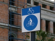 Strange cycling sign