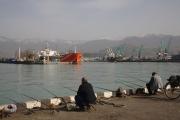 Fishermen in Batumi harbor