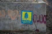 Guerilla Gardening logo streetart