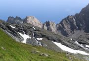 rotsen en sneeuw in Hohe Tauern