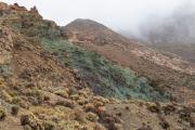 Gesteente in Parc Nacional del Teide (vulkaan)