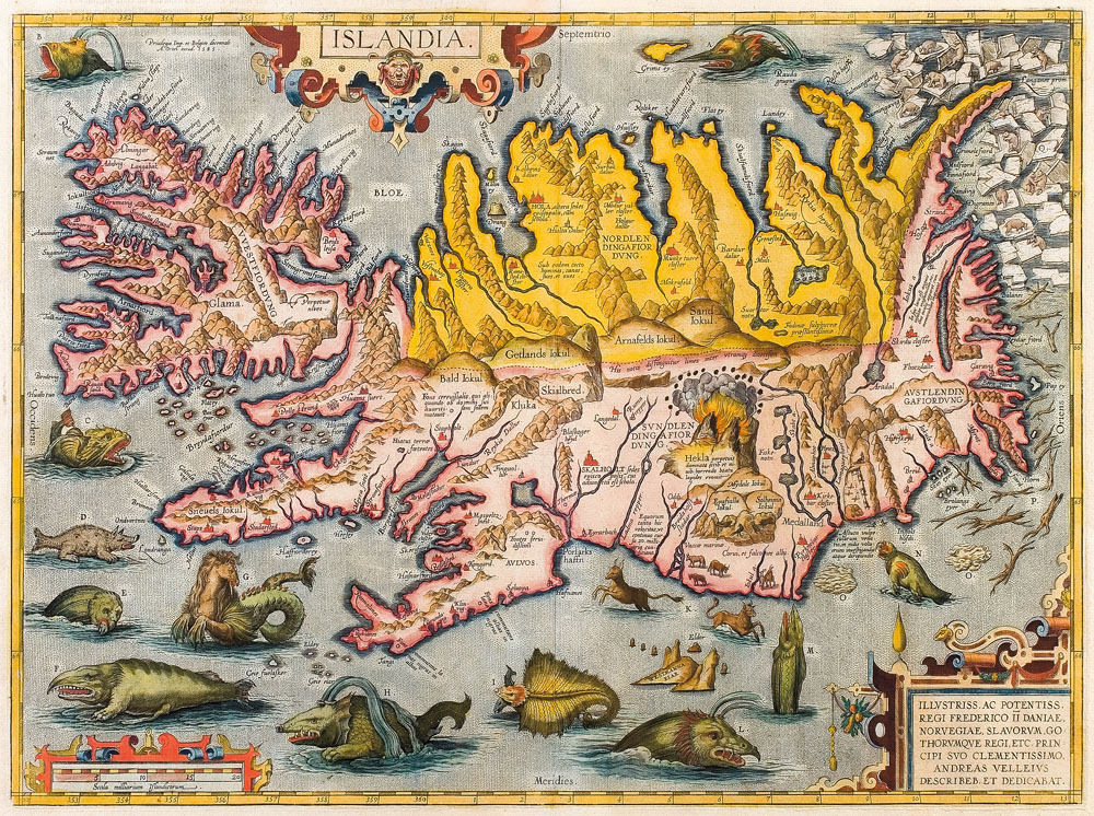 IJsland kaart 1590